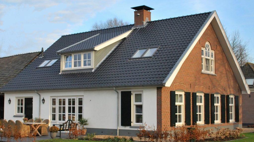 Nieuwbouw voorhuis woonboerderij passief gebouwd