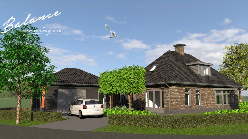 Ontwerp nieuwbouw woning met garage