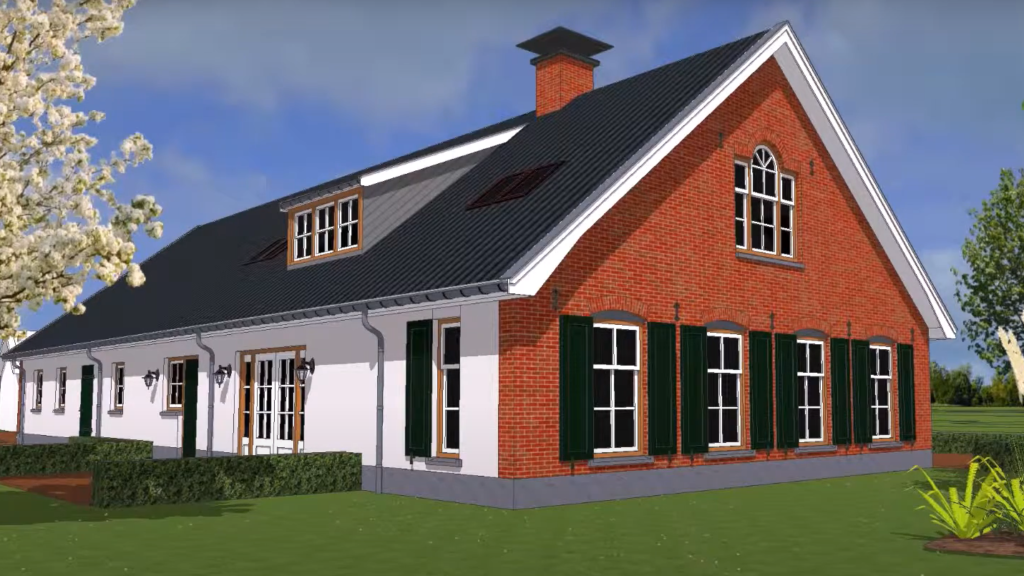 Ontwerp nieuwbouw woonboerderij
