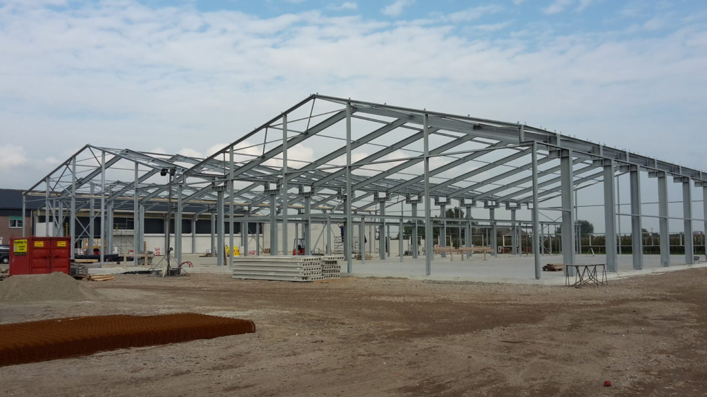 Staalconstructie nieuwbouw sorteerhallen